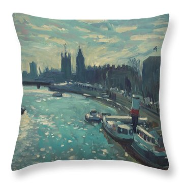 View To Westminster London Throw Pillow