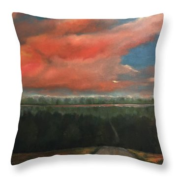 View To Yell County Throw Pillow