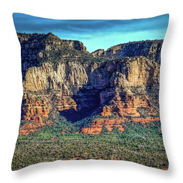 View Toward Lee Mountain Throw Pillow by Jon Burch Photography