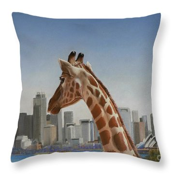 View Towards Sydney Throw Pillow by Louise Green