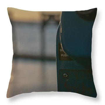 Throw Pillow featuring the photograph Viewfinder by Erin Kohlenberg