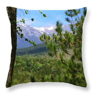 Views Of Katahdin Throw Pillow by Robin Regan