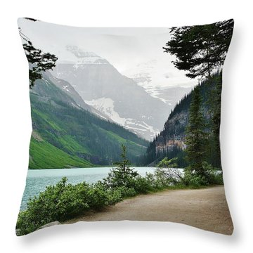 Throw Pillow featuring the photograph Views Of Louise by Al Fritz