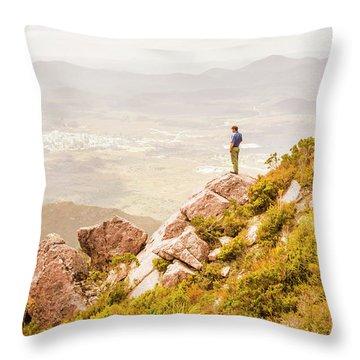Views On West Coast Tasmania  Throw Pillow