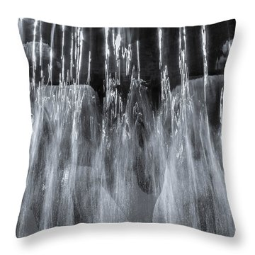 Throw Pillow featuring the photograph Vigeland Fountain In Blue by KG Thienemann
