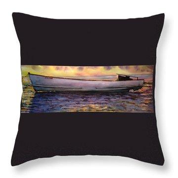 Viggo's Boat Throw Pillow