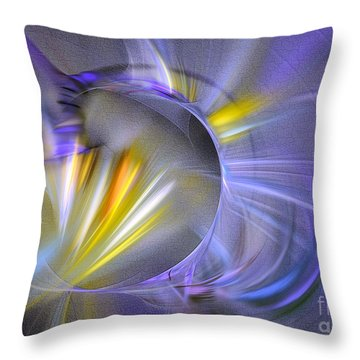 Throw Pillow featuring the digital art Vigor - Abstract Art by Sipo Liimatainen