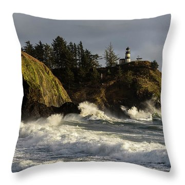 Vigorous Surf Throw Pillow