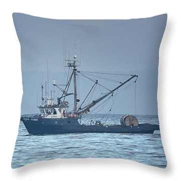 Throw Pillow featuring the photograph Viking Fisher 3 by Randy Hall