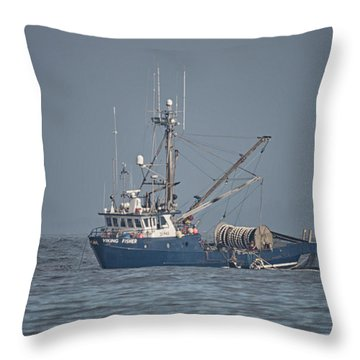 Throw Pillow featuring the photograph Viking Fisher 4 by Randy Hall