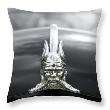 Viking Hood Ornament II Throw Pillow by Helen Northcott