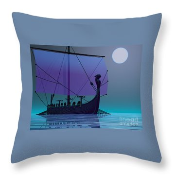 Viking Journey Throw Pillow by Corey Ford