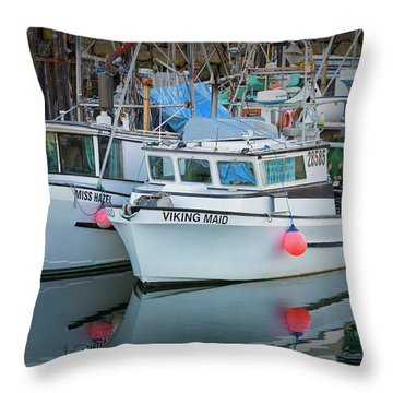 Throw Pillow featuring the photograph Viking Maid by Randy Hall