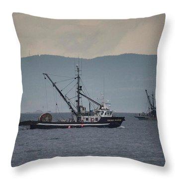 Viking Sunrise Throw Pillow