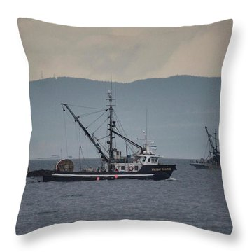 Viking Sunrise Throw Pillow