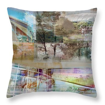 Vikings Stadium Collage 2 Throw Pillow