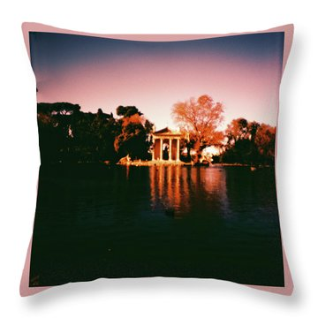 Villa Borghesse Rome Throw Pillow