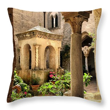 Villa Cimbrone. Ravello Throw Pillow by Jennie Breeze