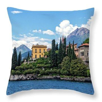 Villa Cipressi On Lake Como Throw Pillow