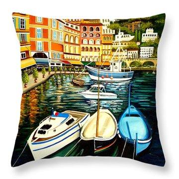 Villa Franche Throw Pillow