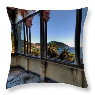 Villa Of Windows On The Sea - Villa Delle Finestre Sul Mare II Throw Pillow
