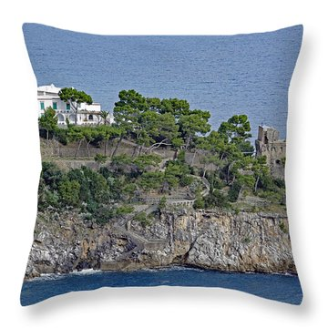 Villa Owned By Sophia Loren On The Amalfi Coast In Italy Throw Pillow