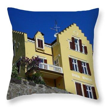 Villa Weiss Throw Pillow by Juergen Weiss