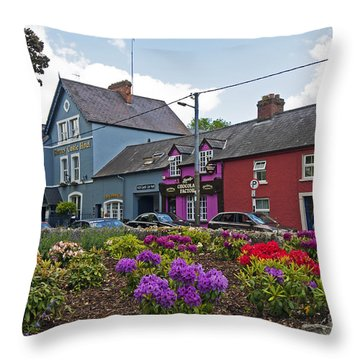 Village At Blarney Castle Throw Pillow