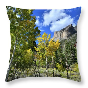 Throw Pillow featuring the photograph Village Beneath Mt. Charleston by Ray Mathis