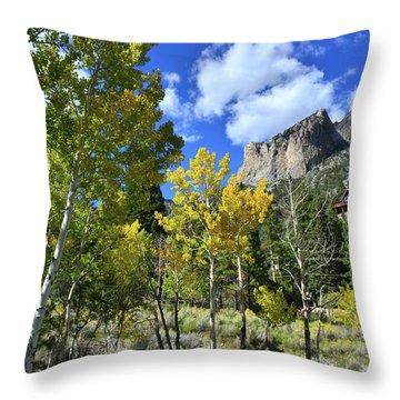 Village Beneath Mt. Charleston Throw Pillow