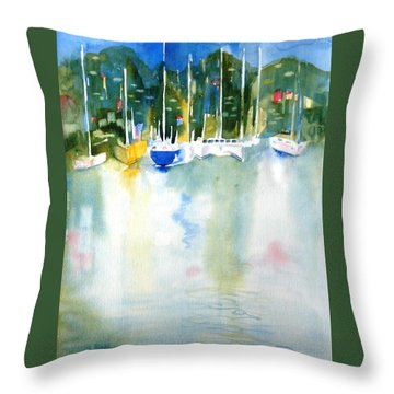 Village Cay Reflections Throw Pillow