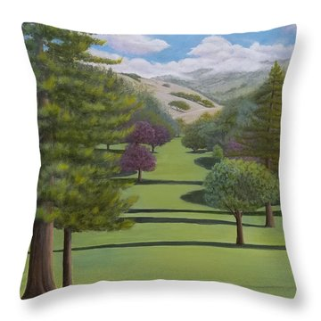 Village Eastern Views Throw Pillow
