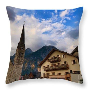Village Hallstatt Throw Pillow