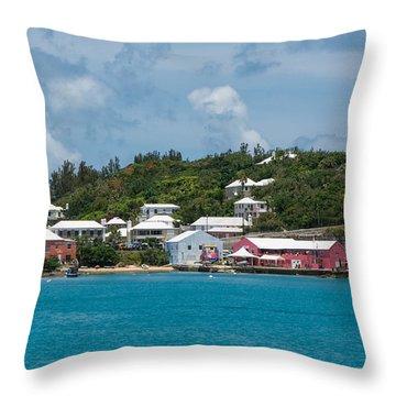 Village In Bermuda Throw Pillow