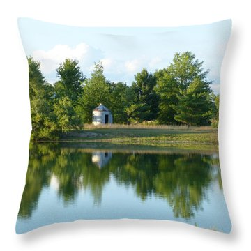 Village In Ohio Throw Pillow by Donald C Morgan