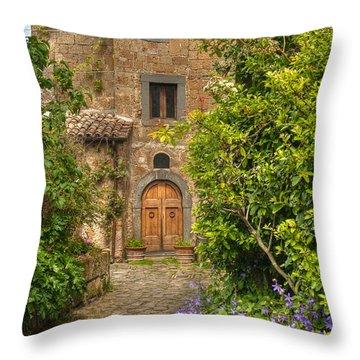 Village Lane Throw Pillow