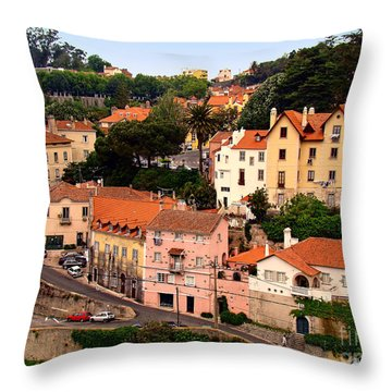 Village Of Sintra Throw Pillow by Sue Melvin