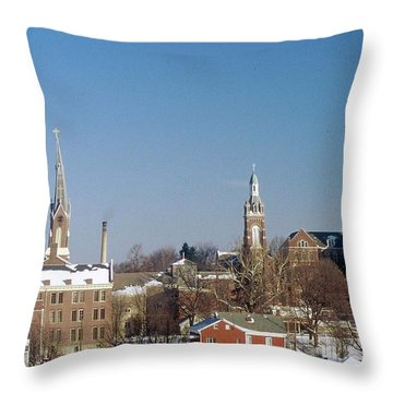 Village Of Spires Throw Pillow