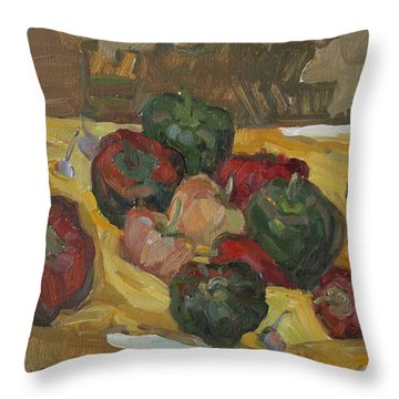Village Peppers Throw Pillow
