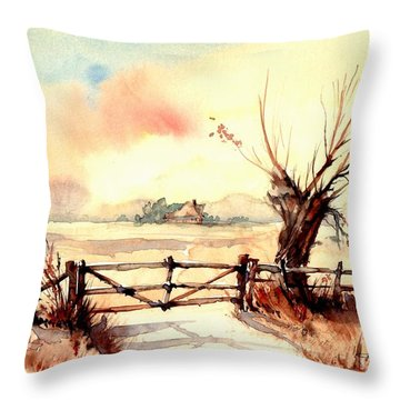 Village Scene IIi Throw Pillow