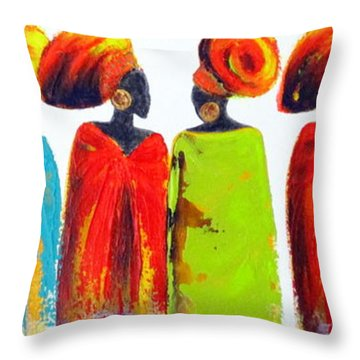Village Talk Throw Pillow