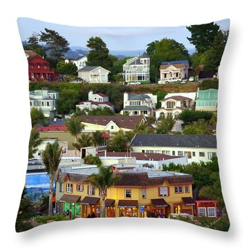 Village View  Sig Throw Pillow