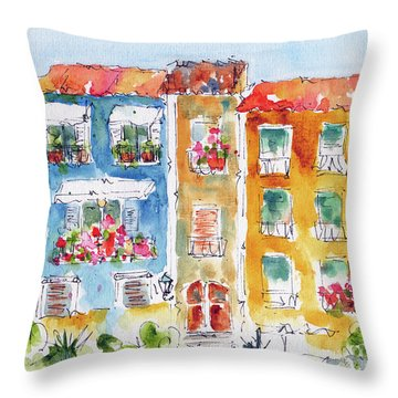 Villajoyosa Spain Throw Pillow