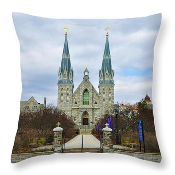 Villanova College Throw Pillow by Bill Cannon