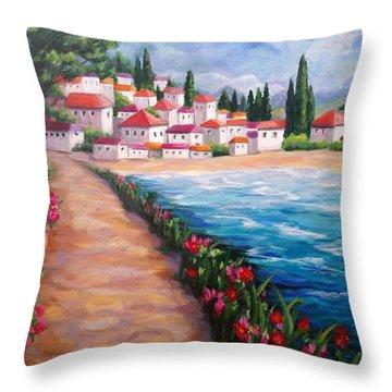 Villas By The Sea Throw Pillow