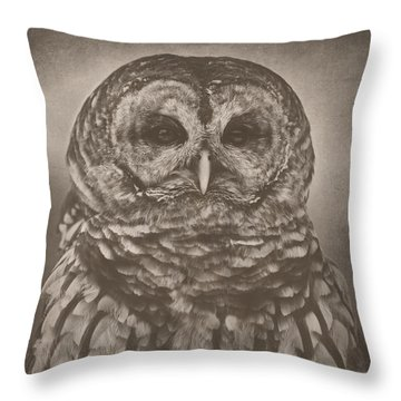 Vilma In Black And White Throw Pillow