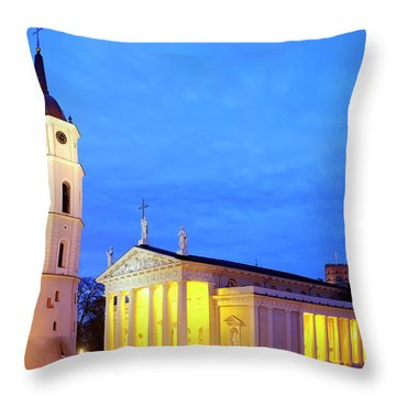 Throw Pillow featuring the photograph Vilnius Cathedral by Fabrizio Troiani