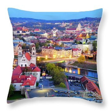 Throw Pillow featuring the photograph Vilnius by Fabrizio Troiani