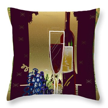 Vin Pour Une Throw Pillow