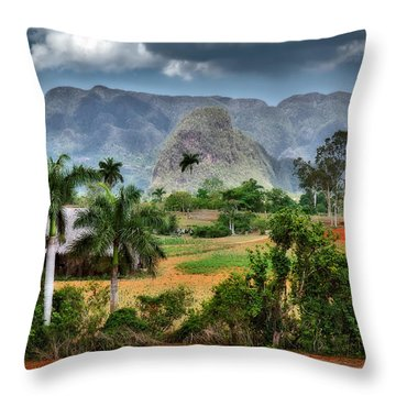 Vinales. Pinar Del Rio. Cuba Throw Pillow